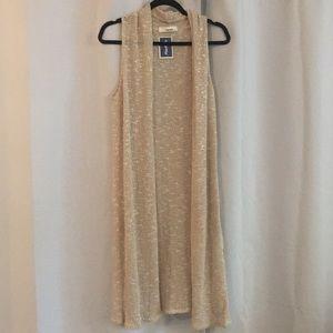 Sans Souci sleeveless long cardigan/vest